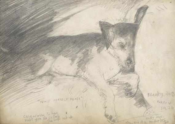 William Orpen - Peace perfect peace - sleepy dog,... - Pictify ...