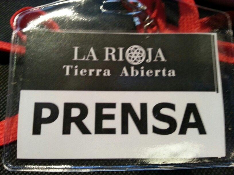 Pase de prensa en #LRTAHaro2013 para poder entear en la exposicion y hacer fotos
