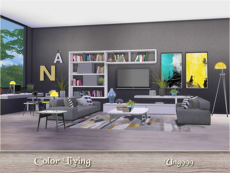 A Modern Colorful Living Room Decor Items In Preview Found Under Color Living Decor Stuff Found In Tsr Colourful Living Room Living Room Sets Living Decor