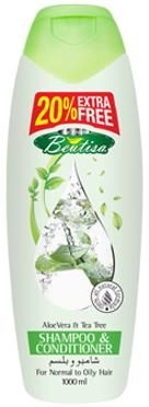 Beutisa Shampoo Conditioner with extracts of Aloe Vera and Tea Tree for normal to oily hair 415ml £4.00
