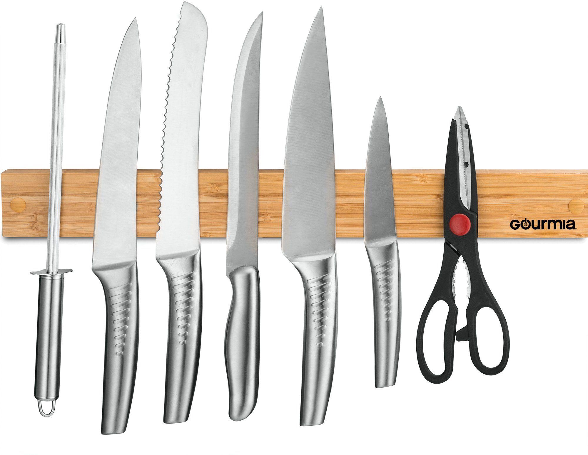 Gourmia GMK9920 Knife Holder – Strong Bamboo