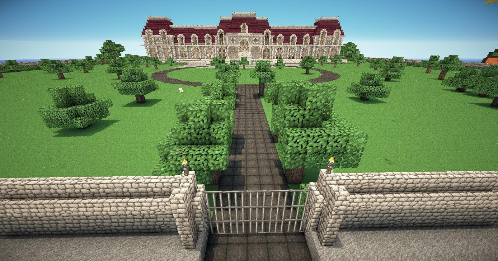 Minecraft Mansion Exterior And Interior
