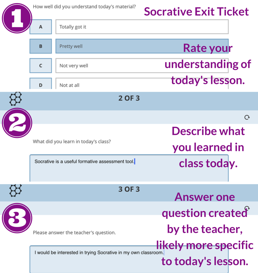 Socrative Pre-made Exit Ticket