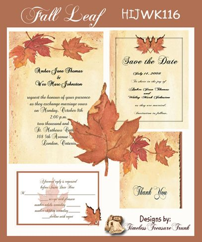 Autumn Invitation Templates Fall Leaves Home Ink Jet 7 5x7