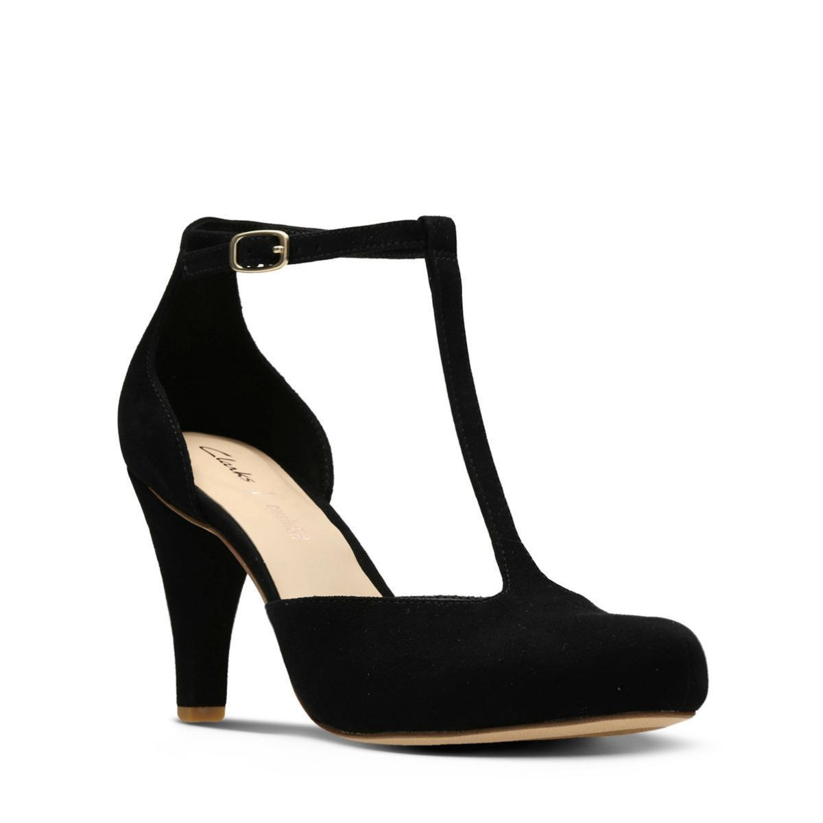 4e3dbc82e685 Clarks Dalia Tulip - Womens Shoes Black Suede 9.5 D (Medium)   WomenShoesPlatform  womenshoesblack
