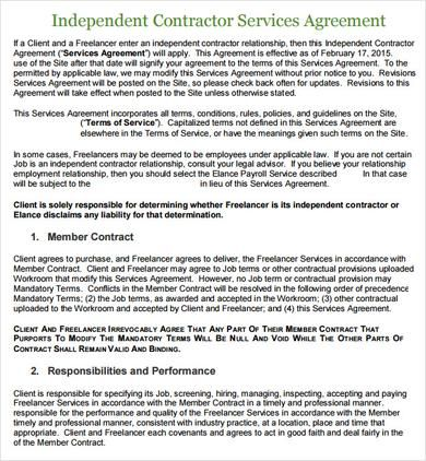 Service Agreement Contract Template , Basics to Make Your Own - agreement for services template