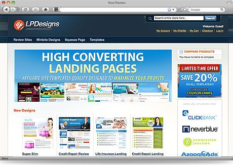 Landing Page Templates Minisite Templates Review Site Templates