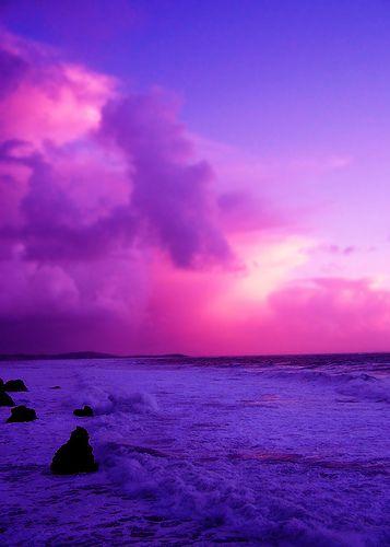 Purple Ocean Sunset Ocean Sunset Beach Sunset Wallpaper Scenery Pictures