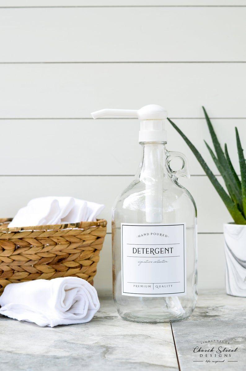 Half Gallon Jug Laundry Soap Bottles Detergent Softener
