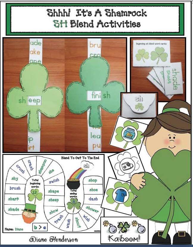 "St. Patrick's Day Activities ""Shhh! It's a Shamrock"" SH"