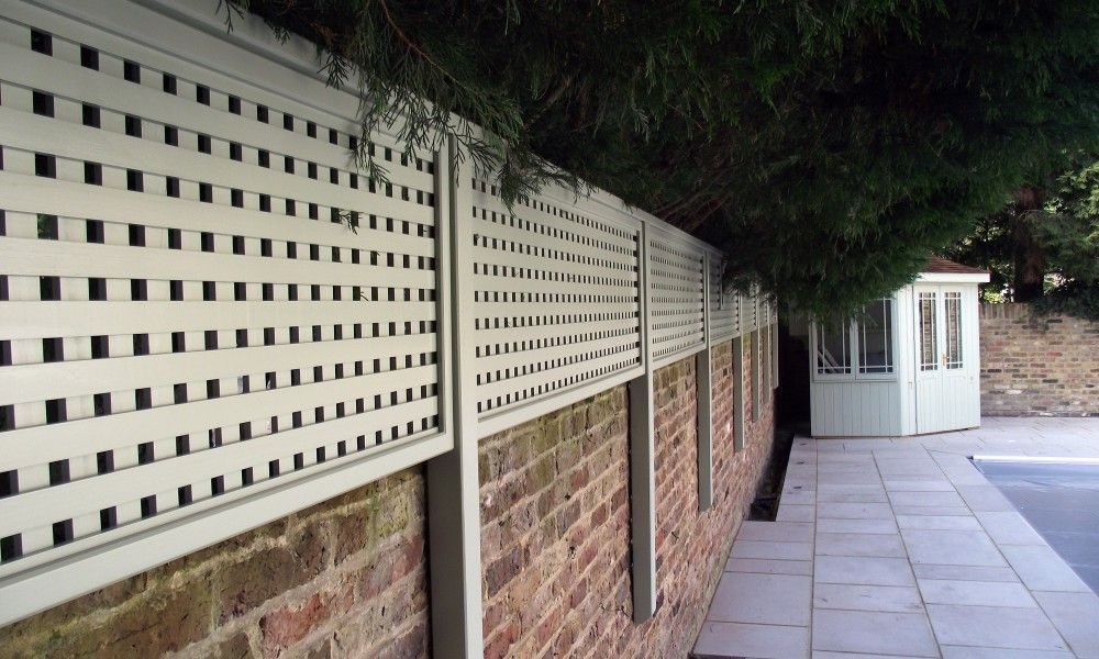 Face Fixed Angled Post Detail Outdoor Life Trellis Panels