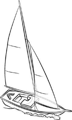Bildergebnis für sailboat drawing in 2019 | Segelboot ...