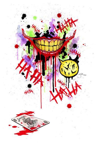 The Joker Art Print Risa Del Joker Arte De Comics Fondos De Comic