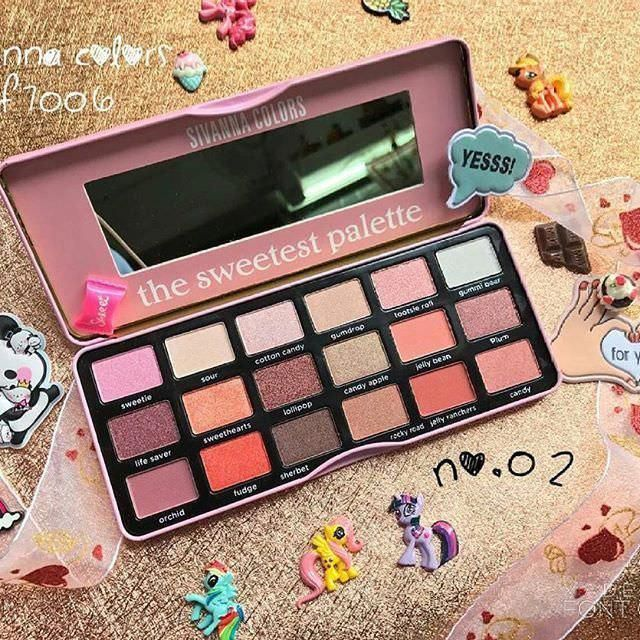 PINK PASTEL SHADE EYESHADOW PALETTE BY SIVANNA MAKEUP