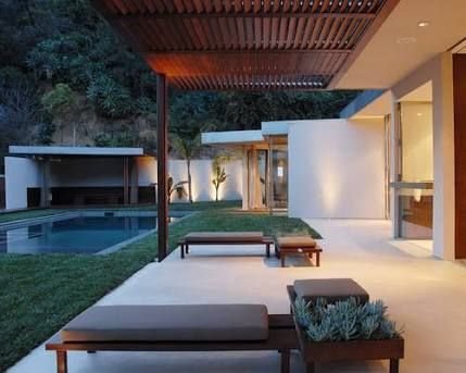 Image result for cool patio slat roof