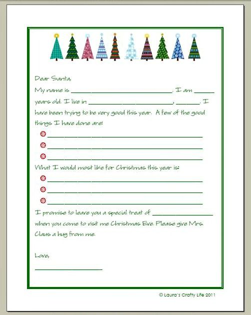 Letter to Santa and a Printable Prompts, Santa and Free - santa letter template