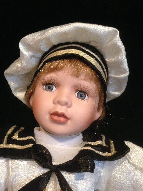 Buy Ashley Belle Bisque Doll, Vincent Sailor, Vintage with Wood Display Case, Hand Made Cloths by derbayzvintage. Explore more products on http://derbayzvintage.etsy.com