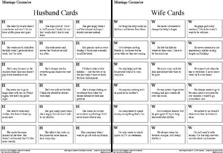 Marriage Counseling Worksheets Students Will Be Laughing So Much