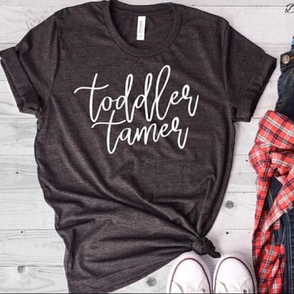 Toddler tamer funny charcoal mom life unisex fit tee
