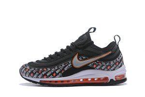 a70ed03b8e Mens Nike Air Max 97 Ultra SE Just Do It Black White Orange Sneakers ...
