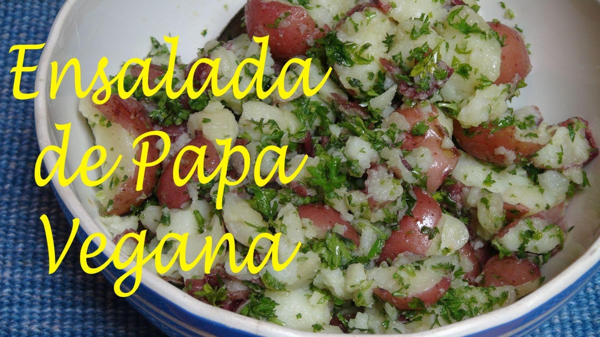 Ensalada de Papitas con Perejil - Receta Vegana