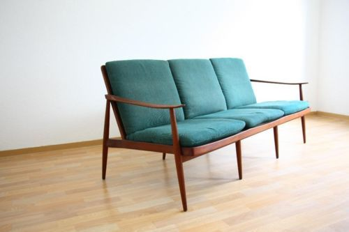 50er - Danish Design 3er Sofa + 2 Sessel - Knoll Antimott In ... Danish Design Wohnzimmer