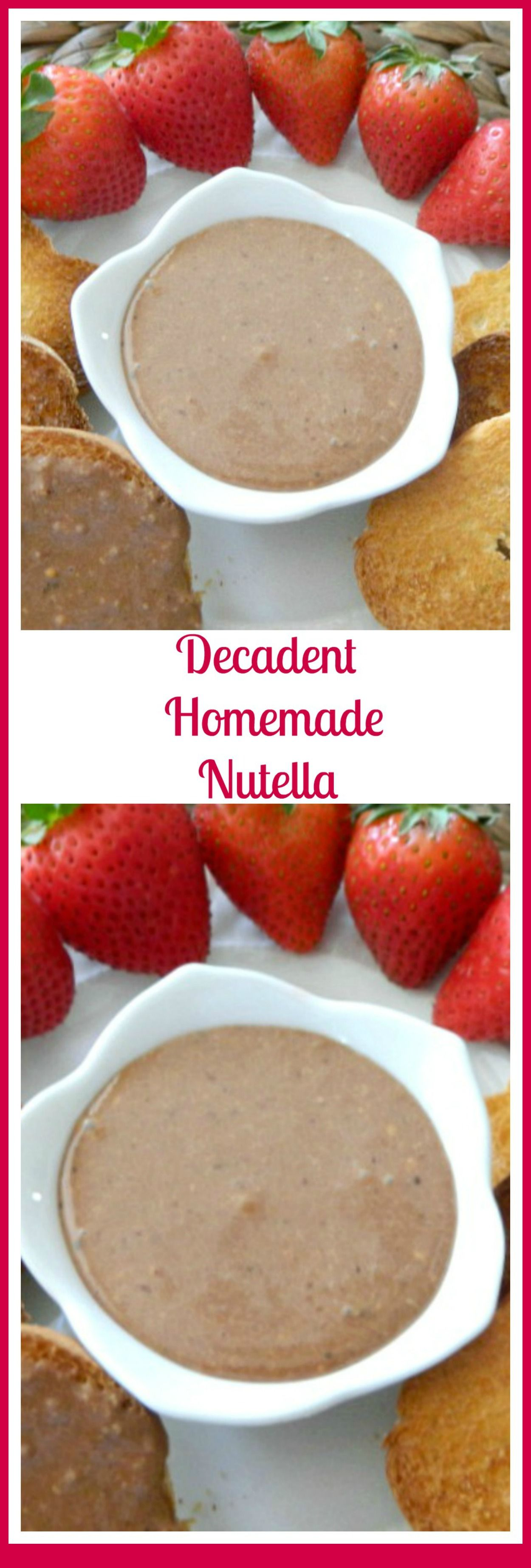 Homemade Nutella  Pams Daily Dish