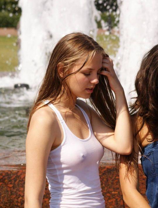 wet hot teens in bras