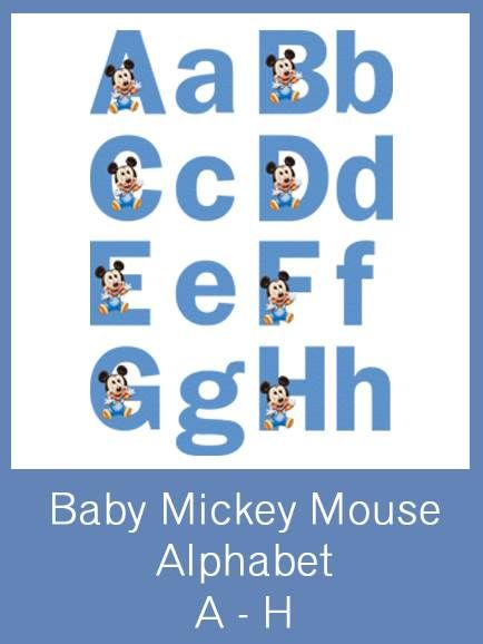 Mickey Mouse Free Printable Alphabet Letters Birthday Ideas In