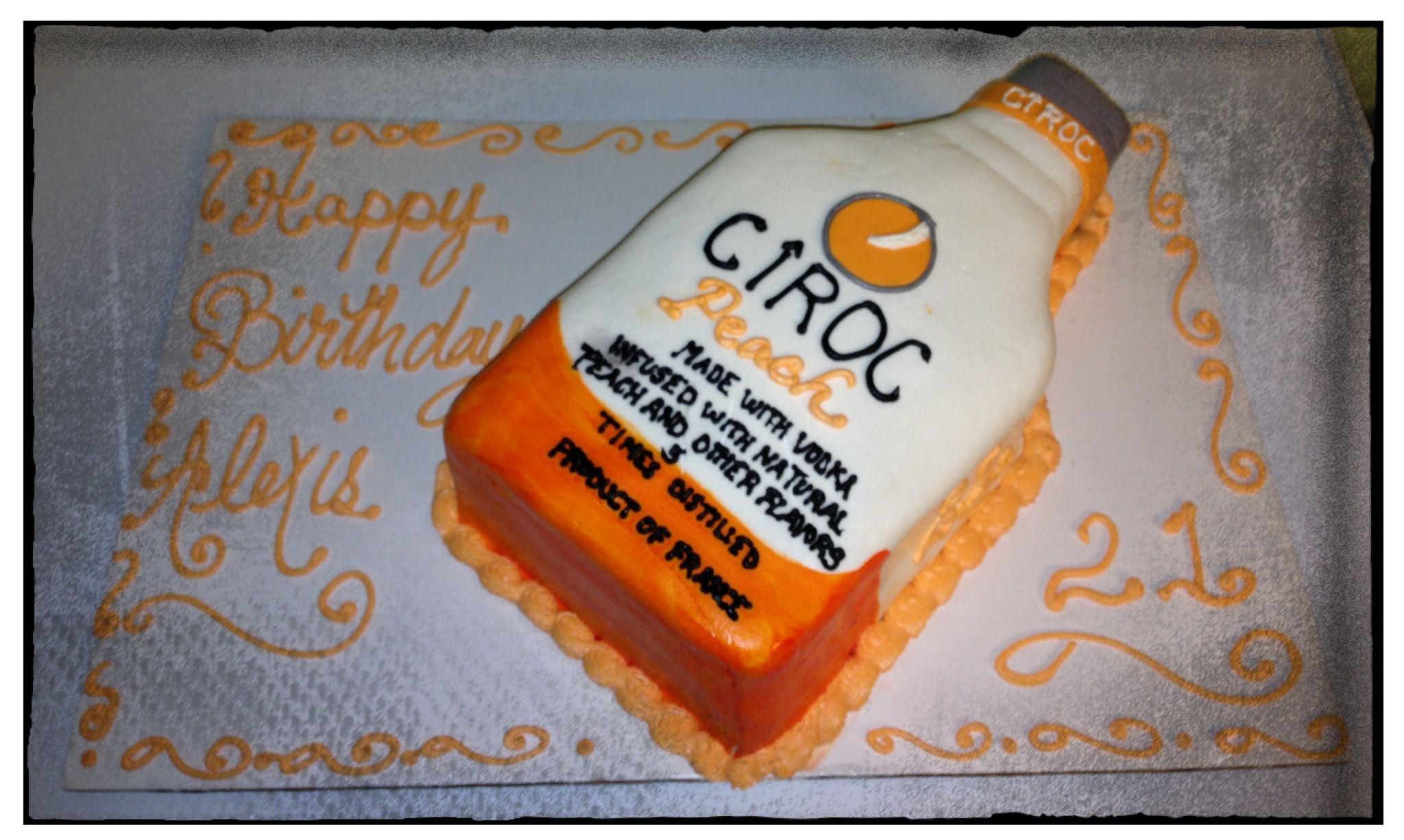 Peach Ciroc Bottle Cake Food Drink Pinterest Bottle Cake