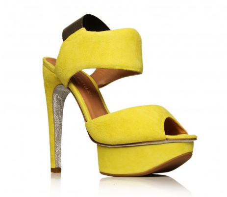 Kurt Geiger neon yellow sandals
