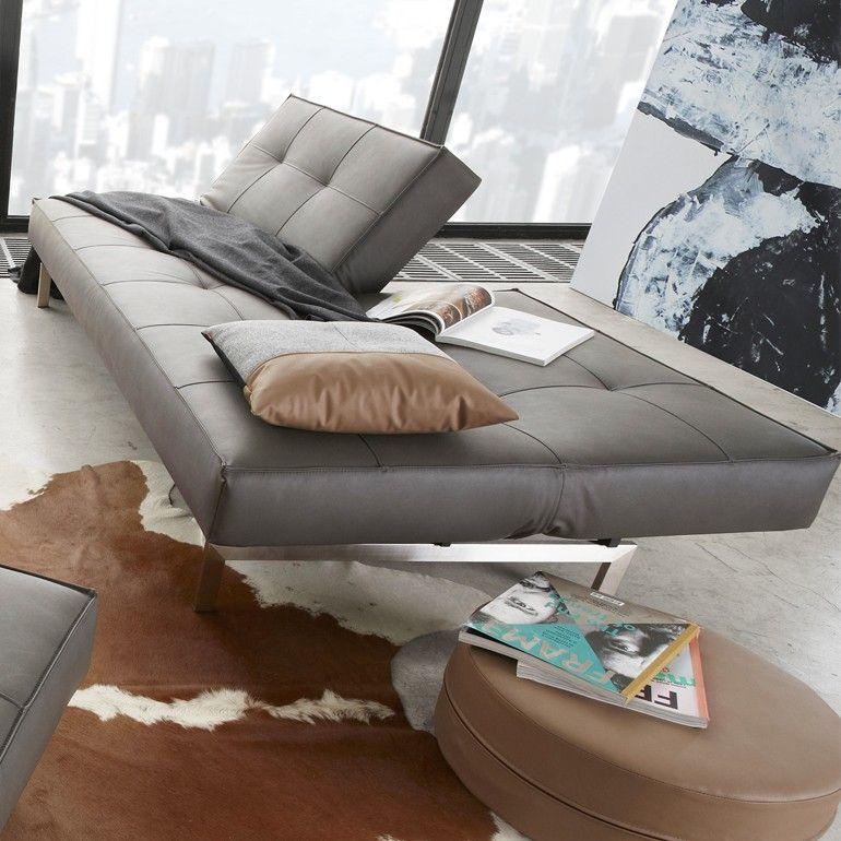 Splitback Sofa Bed | Nubucko Lava By Innovation