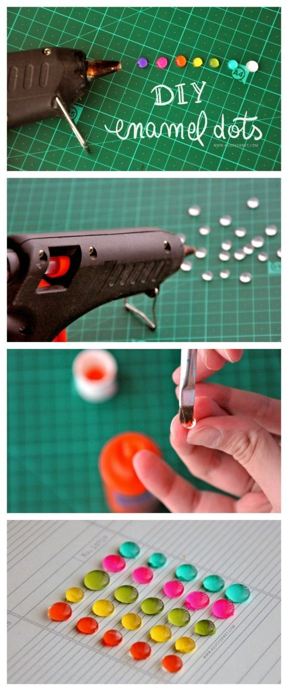 DIY: Enamel Dots | @ Unlimited Life Hacks, Crafts , DIY, And Family ...