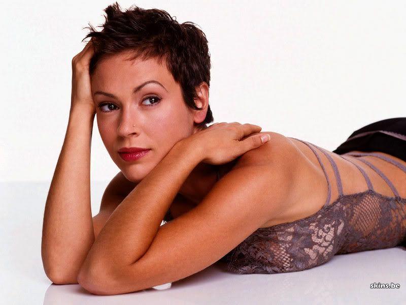 Alyssa Milano Celebrity Short Pixie Hair cuts ~ Short Hairstyles Trends