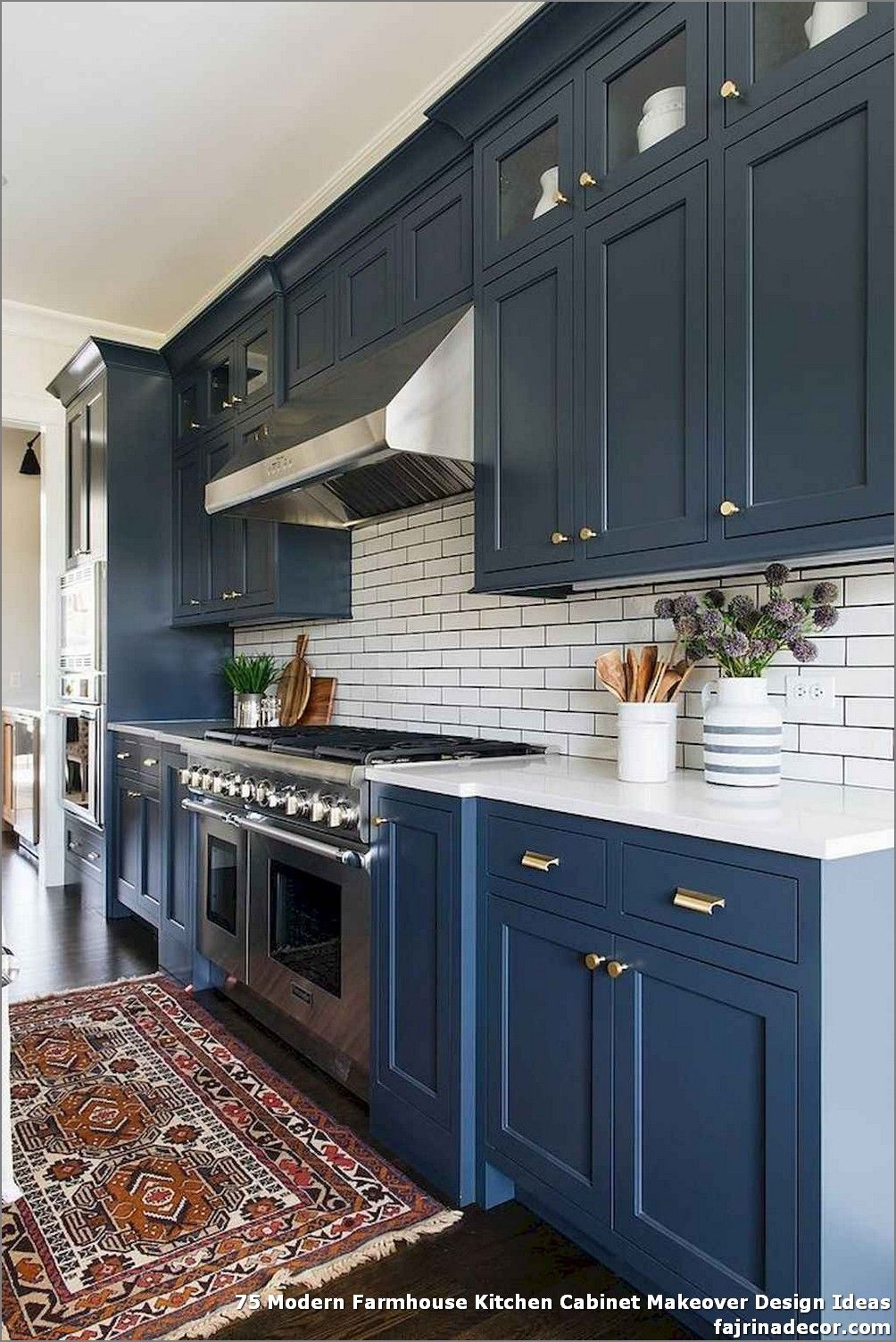 75 Modern Farmhouse Kitchen Makeover Design Ideas