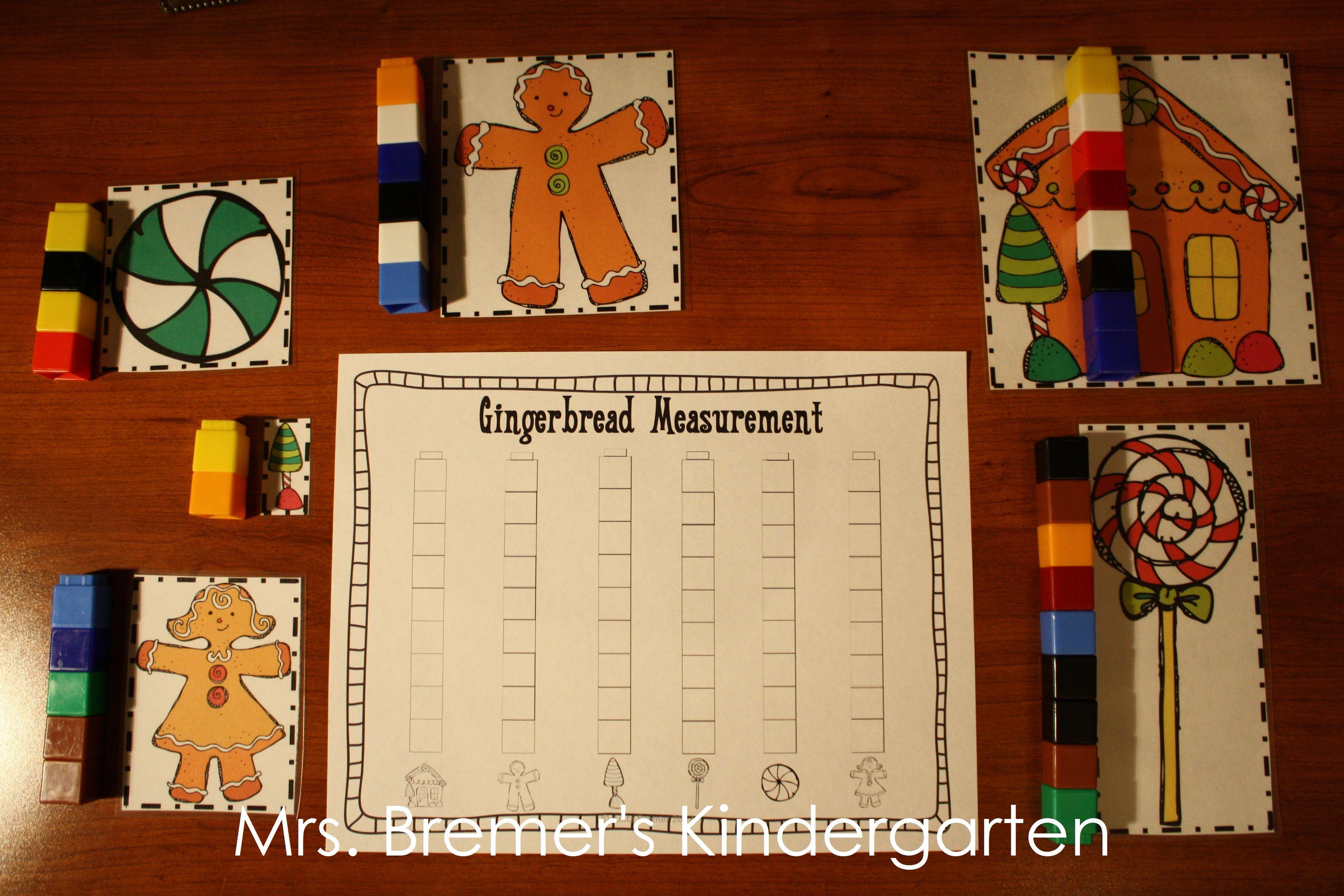 Gingerbread Man Measurement Activities Using Unifix Cubes