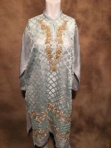b382b0e2c9 Agha Noor Light Blue Cotton Net Kurti | eBay | Agha Noor | Net kurti ...