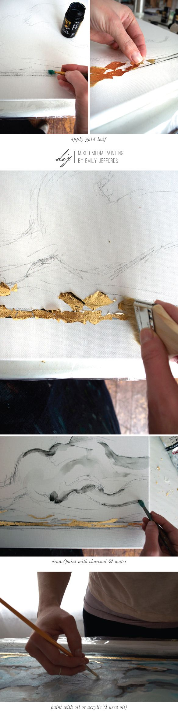 Mixed Media Painting How To: Emily Jeffords, Beautiful Hello Blog