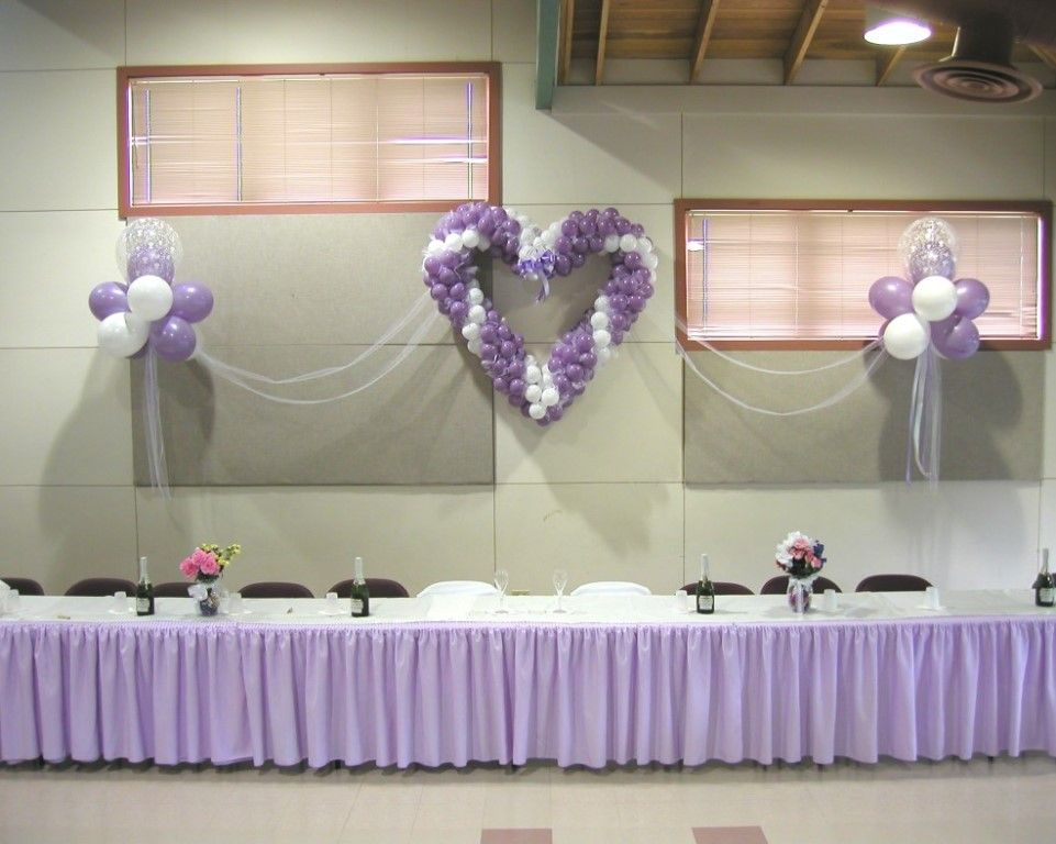 Heart with Fantasy Clouds Head Table Backdrop