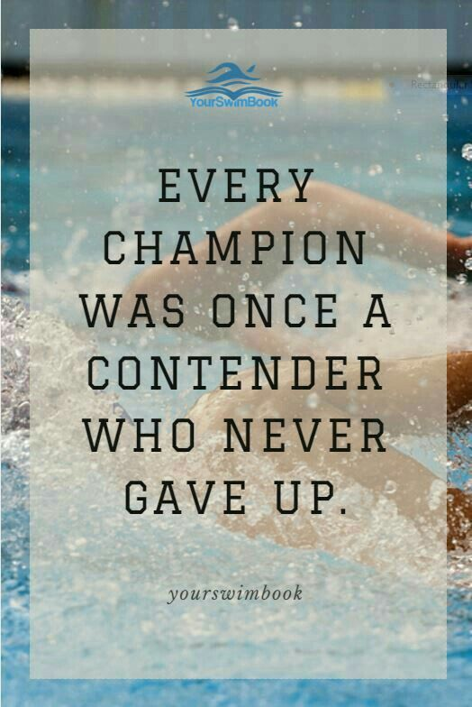 Swimming Quotes Adorable Pinaleksandra Pon Swimming  Pinterest  Swimming Competitive