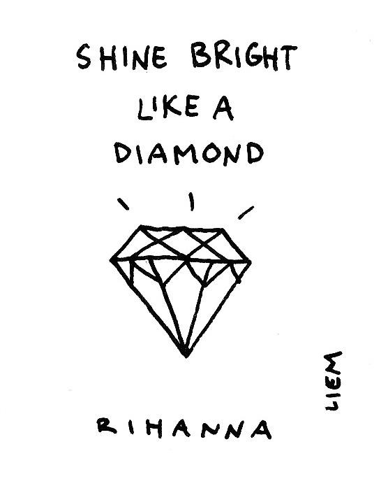 365 Song 76 Diamonds Liedjesteksten Citaten Rihanna