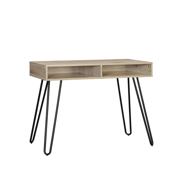 Mainstays Hairpin Writing Desk Multiple Finishes Walmart Com In 2020 Writing Desk Desk Mainstays