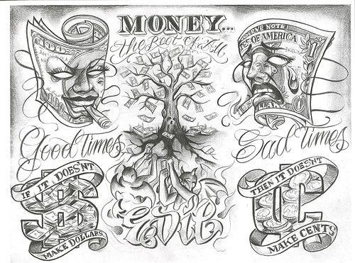 Chicano Tattoo Designs Tattoovoorbeeld Boog Tattoo Chicano Art Tattoos Gangsta Tattoos