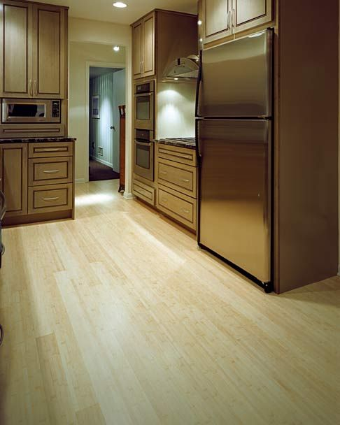 Love The Off White Bamboo Floor And Cabinet Stain Bamboo Flooring Floor Design Home Renovation
