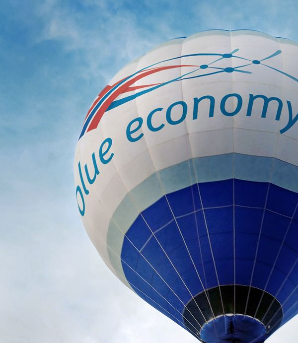 Blue Economy Logo Design by Jacco Schokker, via Behance