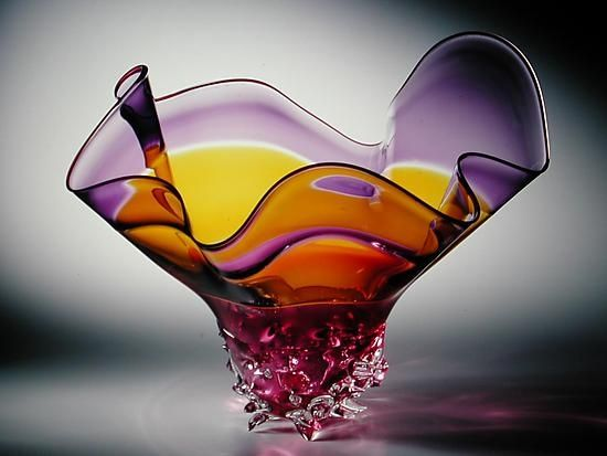 Decorative Blown Glass Bowls Cool David Van Noppen Art Glass  Double Incalmo Bowl David Van 2018