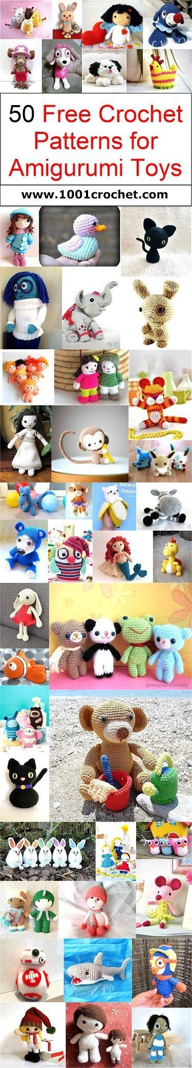 50 Free Crochet Patterns For Amigurumi Toys Free Crochet