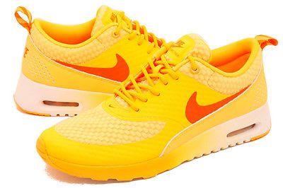 premium selection 4524f b2e5a Nike Women Air Max Thea Premium Atomic Mango Orange Silver 616723-800