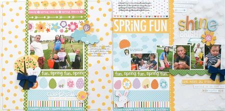 Bella Blvd Simply Spring collection. Shine Bright layout by DT member Wendy Antenucci.