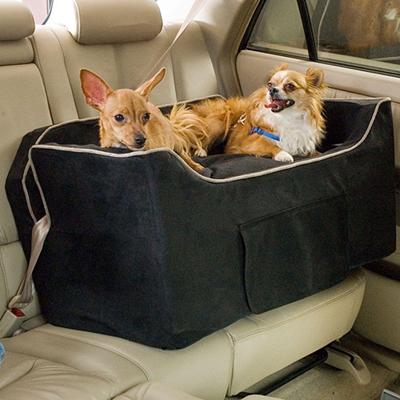 Snoozer Black Luxury Lookout II Double Dog Car Seat | Pet safe, Dog